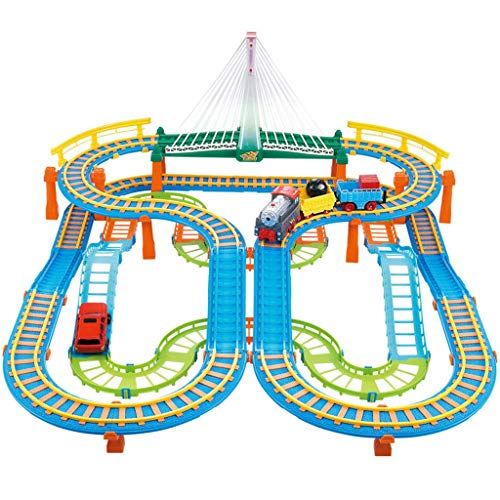 Children's Rail car Toy Small Train Track Set Electric Track Toy car boy 3-8 Years Old Toy Children's Educational Toys Parent-Child Interactive Toys