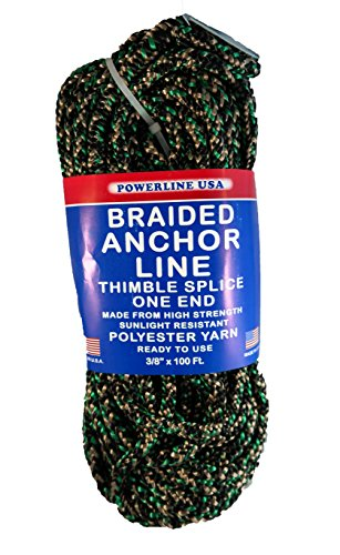 Rope USA Braided Anchor Line, Camouflage, 3/8-Inch x - Unicord Anchor Line