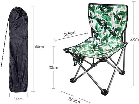 Silla de Camping al Aire Libre Silla de Playa Plegable Silla al ...