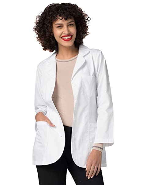Adar Uniforms Bata Médica de Laboratorio Para Mujeres, Doctoras y Científicos: Amazon.es: Ropa y accesorios