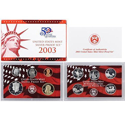 2003 U.S. Mint Silver Proof Set Set - Mint Proof Silver Us Set