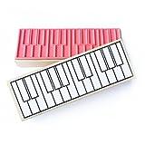Jumbo Piano Diagram Rubber Stamp