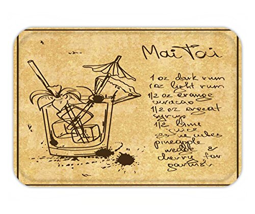 lustration with hand drawn sketch mai tai cocktail including recipe and ingredients on the (Mai Tai Cocktail Ingredients)