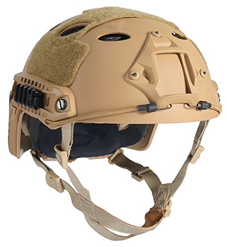 - DLP Tactical ImpaX Extreme FAST Bump Helmet with bonus Accessory Mounts (Tan)