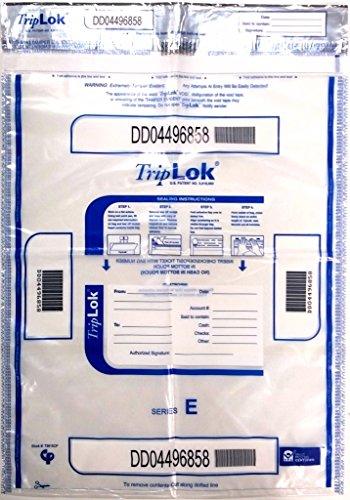 Currency Deposit Bags - Clear TripLok Deposit Bag 15 x 20 (Pack of 50)
