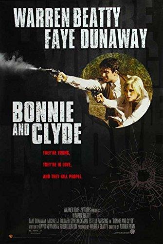 Bonnie and Clyde Poster B Warren Beatty Faye Dunaway Michael J. Pollard