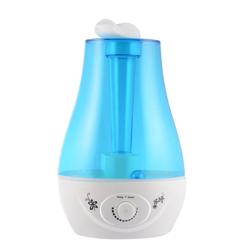 LESHP Ultraschall Leise Luftbefeuchter mit 3.0L, zwei 360°drehbare Dampfdüsen, Technologie Abschaltautomatik und LED Anzeige