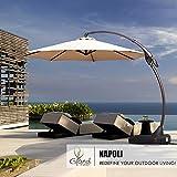 6bb6b6607802 Buy Honture 10 Ft Round Umbrella 3 Layers Triple Vent Aluminum Patio ...