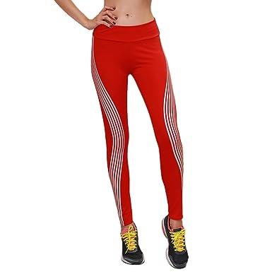 DEELIN Pantalones De Yoga para Mujer Neon Rainbow Stripe ...