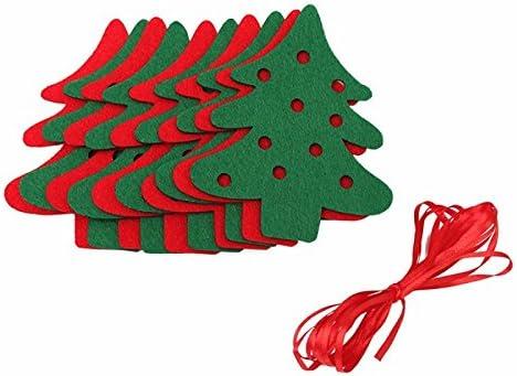10Pcs Weihnachtsbaum Wimpelkette Wimpelgirlande Banner Weihnachten Xmas