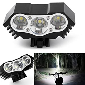 10000 LM 3X HeadLight Bicycle LED T6 Bike Head Light Lamp Torch Flashlight US