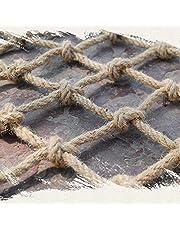 Hemp Rope Net Balcony Protective Netting, Child Anti-Fall Net - Strong and Sturdy Engineering Protection Fence Protection Net Balcony Stairs Railing Safety Anti-Fall Netting Multiple Size Options Gard