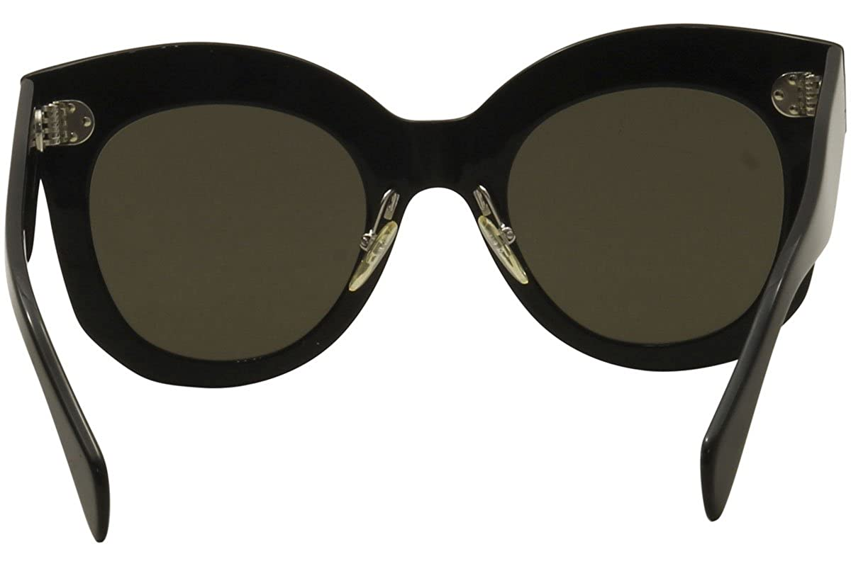 aba9a3cdd3212 Celine CL41443 S 06Z Black Chris Round Sunglasses Lens Category 3 Size 50mm  at Amazon Men s Clothing store