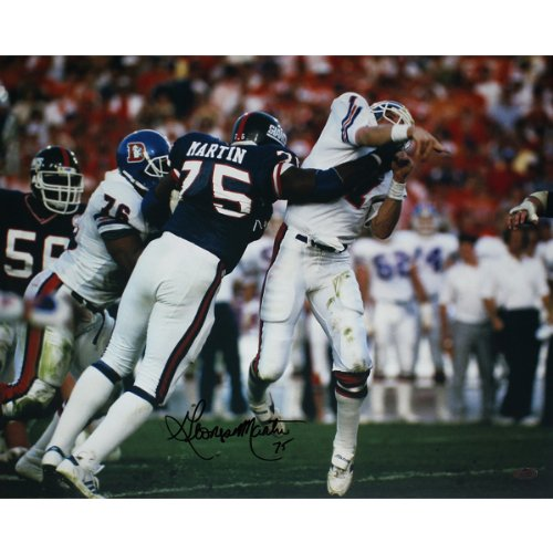NFL New York Giants George Martin SB XXI Hit on Elway Horizontal Photograph, 6x20-Inch