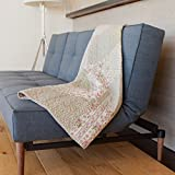 """SLPR Savannah Cotton Real Patchwork Quilted Throw (50"""" x 60"""") 