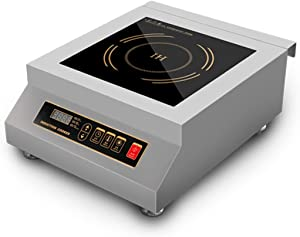 5000 Watt Countertop Commercial Induction Cooktop Burner, Electric Magnetic Stove
