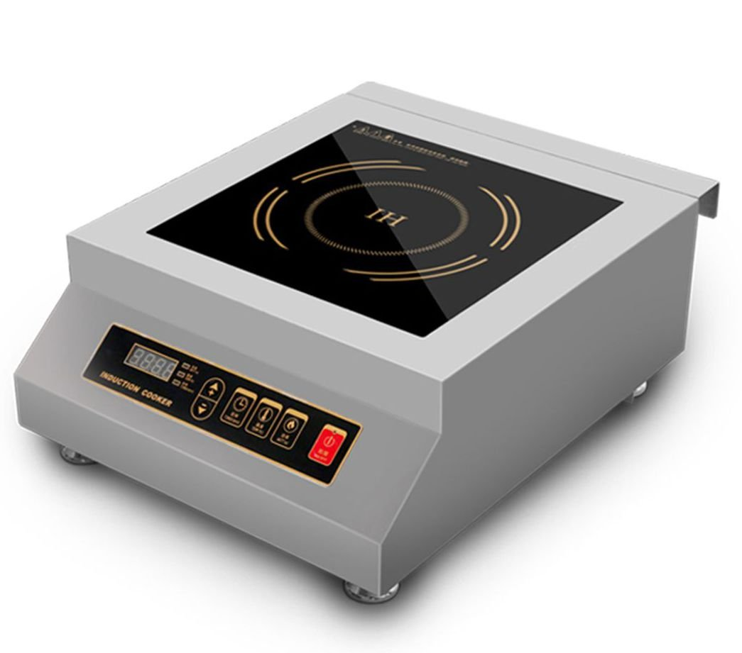 5000 Watt Countertop Commercial Induction Cooktop Burner, Electric Magnetic Stove HuaDao MDC-5000-FM