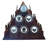 DECOMIL Pyramid Shaped Poker/Casino Chips Display Stand with Rotatable Base
