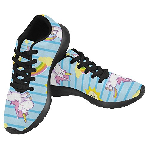 Interestprint Womens Jogging Running Sneaker Leggero Go Easy Walking Casual Sport Sport Scarpe Da Corsa Cute Unicorno E Arcobaleno Multi 1