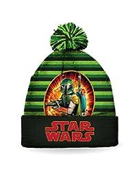 Star Wars Boy's Boba Fett Pom Pom Toque / Hat / Beanie Size 4-6X