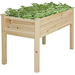 Best Choice Products BCP Wooden Raised Garden Bed Elevated Planter Kit Grow Gardening Vegetables
