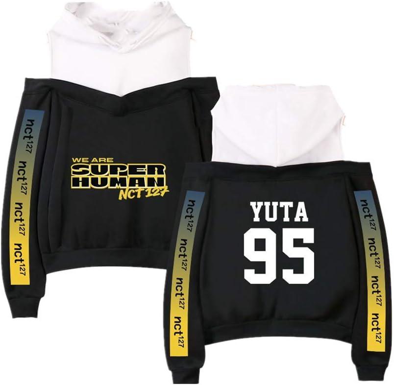Fittrame NCT 127 Merchandise Off Shoulder Hoodie Kpop Clothes Pullover Sweatshirt