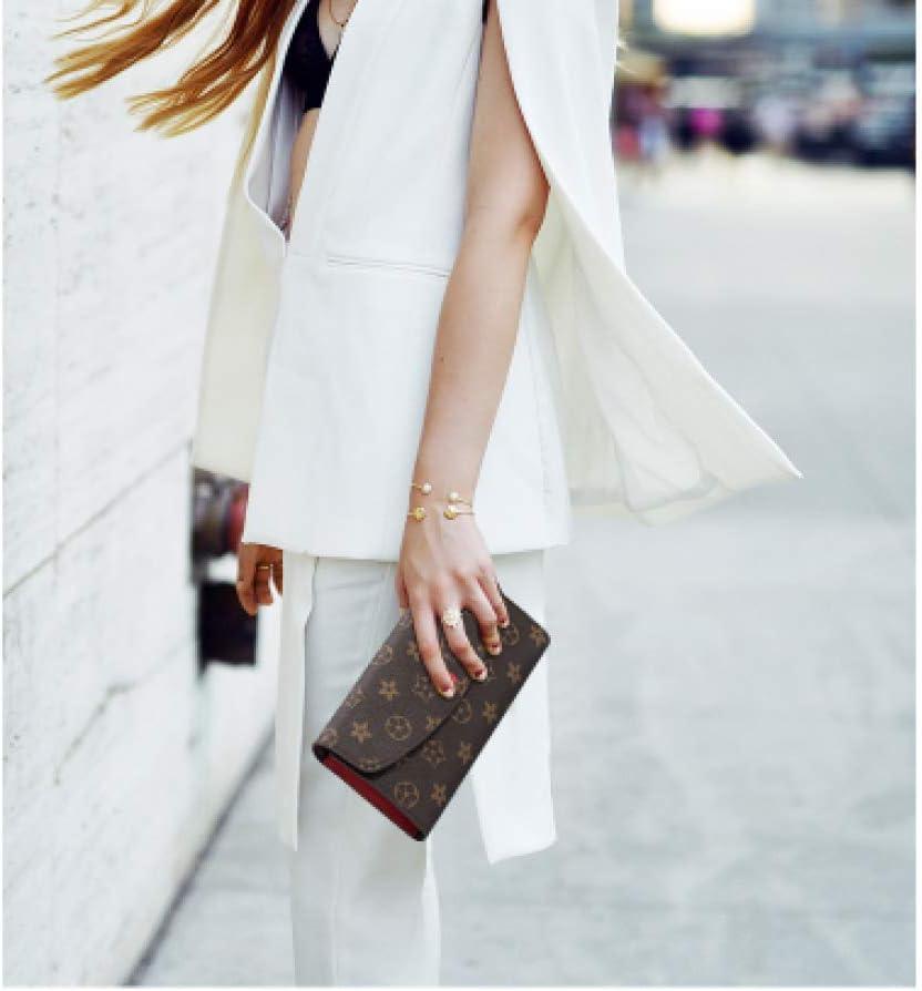 Zhu Pochette r/étro pour Femme Ms Porte-Monnaie r/étro Rouge Portefeuille Multicolore