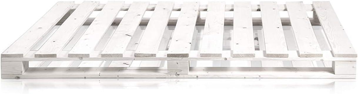 Dydaya Cama de Palets de 80 x 200 x 15 Color Blanco & Somier & Somieres Juveniles Originales Moderno (Blanco, 80 x 200 x 15)
