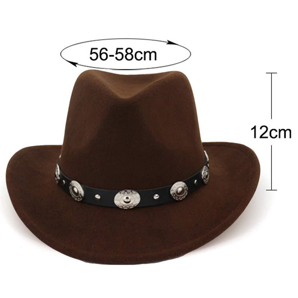 Aisoway Unisexe Western Cowboy Hat Jazz Vacances Cap D/ét/é Sombrero Hat pour Les Hommes Et Les Femmes Caf/é