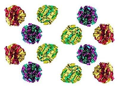 PETFAVORITES Original Mylar Crinkle Balls Cat Toys - 12 Pack