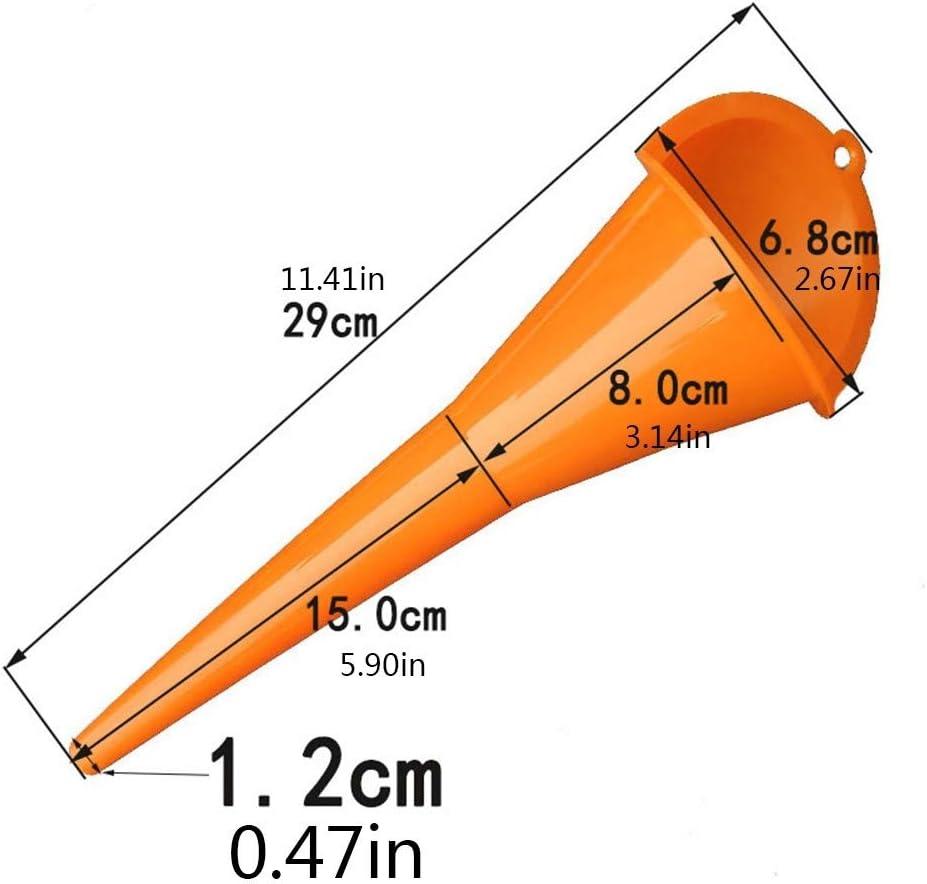 MEROURII 4 Pcs Entonnoir /à Huile Voiture Entonnoirs Auto en Plastique /à Longue Tige Polyvalent pour Voitures Motos