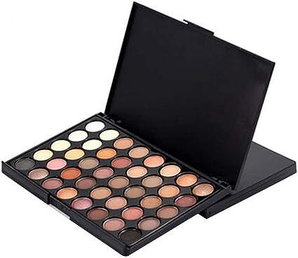 Manooby 40 Colores Paleta De Sombras de Ojos Tablero Cosmética Kit Maquillaje Set Profesional Caja: Manooby: Amazon.es: Belleza