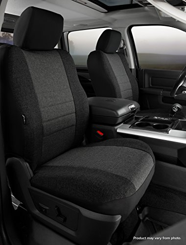 Fia OE37-34 CHARC Custom Fit Front Seat Cover Bucket Seats - Tweed, (Charcoal) ()
