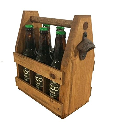 Handcrafted-Wooden-Beer-Carrier-Holder-Tote-Wood-Six-Pack