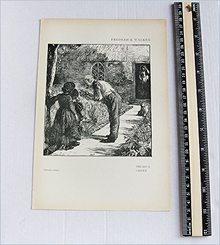 Frederick Walker - Antique Print - The Bit o' Garden