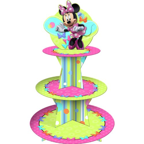 Disney Minnie Mouse Bow-tique Cupcake Stand Party Accessory