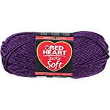 Red Heart Sparkle Soft Yarn-Plum
