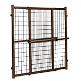 Evenflo Position and Lock Tall Pressure Mount Wood Gate, Farmhouse