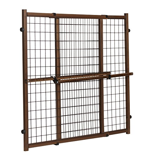 Evenflo Position and Lock Tall Pressure Mount Wood Gate, Farmhouse ()