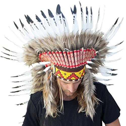 Long  (Halloween Costumes Indian Headdress)