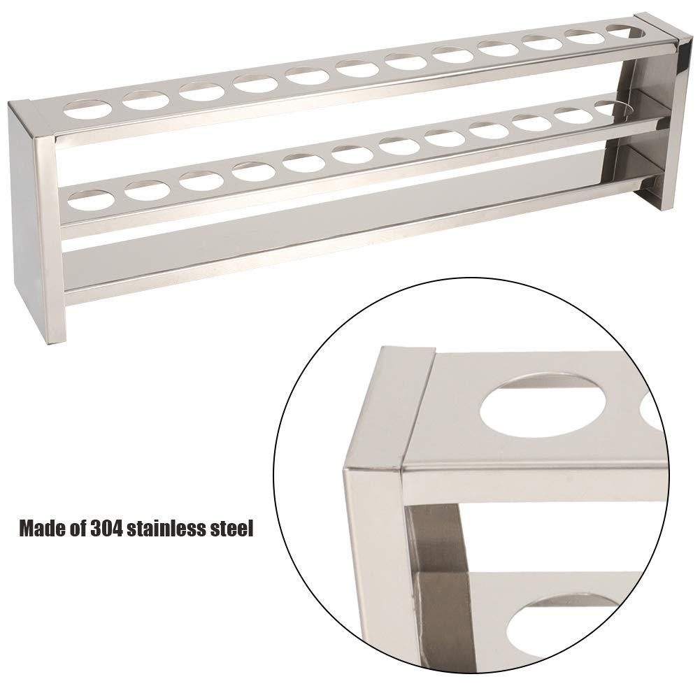 12 Holes Test Tube Rack Stainless Steel Lab Instrument Test Tube Bracket Steady Colorimetric Tube Holder