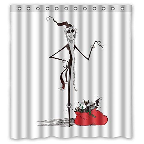 The Nightmare Before Christmas Jack Skellington Waterproof Bathroom Shower Curtain 66