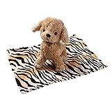 Elogoog Pet Blanket, Super Soft Fluffy Premium Fleece Pet Sleep Mat Flannel Throw for Small Dog Cats (S (15.7x19.6), Coffee)