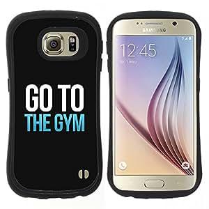 """Hypernova Slim Fit Dual Barniz Protector Caso Case Funda Para Samsung Galaxy S6 [Ejercicio Motivación texto minimalista""""]"""