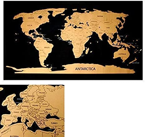 Rubbelweltkarte Mapa Del Mundo para Libre Rascar Scratch Off World ...