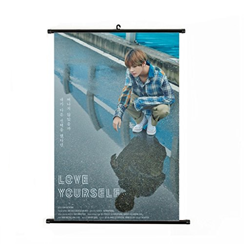 Bosunshine BTS Bangtan Boys New Album [Love Yourself  'HER' ] Wall Scroll Cloth Poster (Style-6)