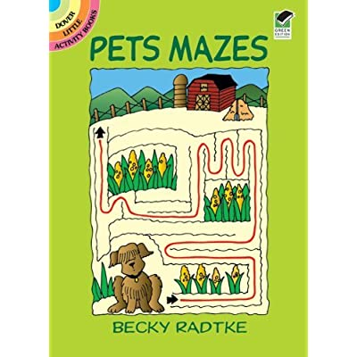 Dover Publications, Pets Mazes Book , Kid ,Toy , Hobbie , Nice Gift: Toys & Games
