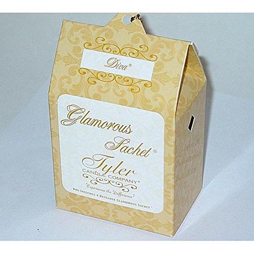 Tyler Candle Glamorous Sachet Set of 4 Boxes - Diva by Tyler Candle