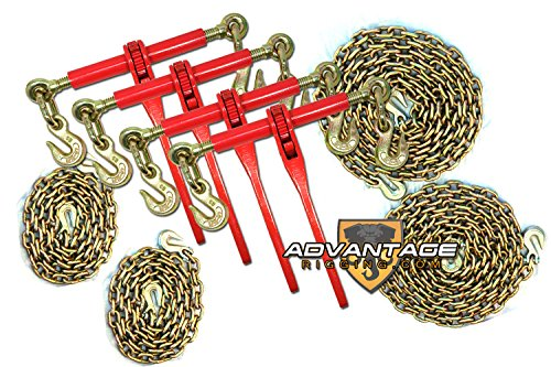 "5/16"" Transport Package - (4) Ratchet Binders - (2) 10' & 20' Foot Chains"