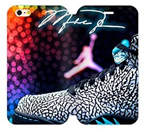 Hoomin Colorful Fahiion Air Michael Jordan Case For Iphone 6 4.7Inch Cover Cell Phone Cases Cover Popular Gifts(Laster Technology)